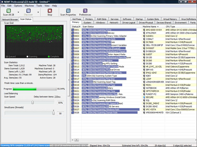 Click to view NEWT Professional Network Inventory 2.5.350 screenshot
